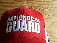 GUARD NATIONAL RED WHITE BLUE HAT CAP ARMY BASEBALL US MILITARY EMBROIDERED