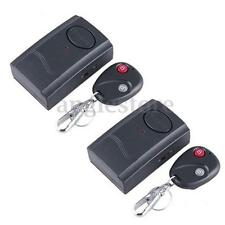 2x Wireless Remote Control Vibration Door Window Detector Burglar Security Alarm