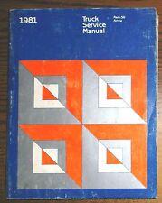 1981 Dodge Ram-50 & Arrow Truck Service Shop Repair Manual 81 OEM Mopar