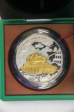 TANKS OF WORLD WAR II - RUSSIAN T-34- 1 KG SILVER GOLD PLATED PROOF COIN