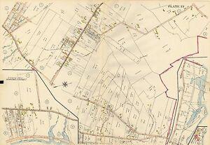 1914 PORTLAND, MAINE, EAST & NORTH DEERING PRESUMPSCOT RIVER BACK COVE ATLAS MAP
