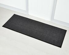 Faro Grey Non Slip Rubber Backed Door Floor Rug Runner 60 x 160cm