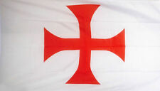 KNIGHTS TEMPLAR RED CROSS FLAG 5' x 3' Old Medieval Christianity Crusaders