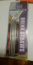 Epica Stainless Steele Drink Straws Pack Of 4 (2142) New