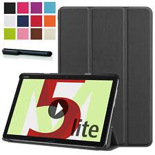"Smart Cover Huawei MediaPad M5 Lite 10.1"" Lederimitat Tasche Etui Case +Pen -3N"