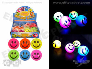 LED Light-Up Colourful Balls - Box of 12 Mixed Colours - Party Bag Sensory Toys