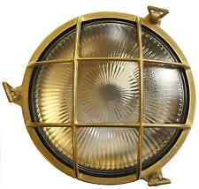 Solid Brass Porthole Exterior Lighting Bulkhead (Large) complete with LED lamp