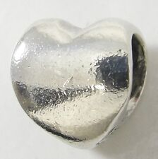 "Trollbeads Sterling Silver Heart Charm Bead Love Passion #11310 5/16"" LAA Estate"