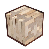 Wooden Intelligence Toy Chinese Brain Teaser Game 3D IQ Puzzle For Kids Adults