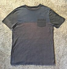Mens Tony Hawk Gray V-Neck Striped Top Sz S VGUC