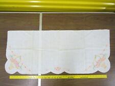 40x17 Floral Madeira Linen Dresser Scarf Runner