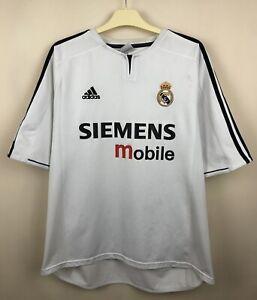 FC REAL MADRID 2003 2004 HOME FOOTBALL JERSEY CAMISETA SOCCER MAGLIA SHIRT