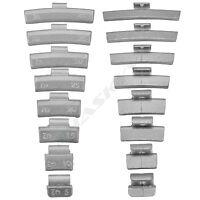Schlaggewichte Auswuchtgewichte Sortiment ALU Felgen 5-40g je 25 St. / 200 TLG