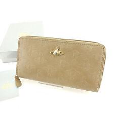 Vivienne Westwood Wallet Purse Orb Beige Gold Woman Authentic Used Y6145