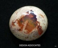 MEXICAN FIRE OPAL IN MATRIX 14 x 12.50 MM OVAL CABOCHON ALL NATURAL