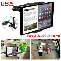 Universal CarSeat Headrest Mount Holder Adjustable for 3.5-10.1inch Tablet Phone
