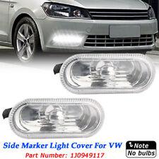 Pair Clear Side Marker Light Indicators For VW Passat B5 B5.5 Golf Jetta MK4 IV