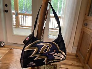 """NFL BALTIMORE RAVENS Women's Style 33 Purse Hand Bag 13"""" WIDE"""