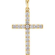 Cruz Diamante 45.7cm Collar en 14k ORO AMARILLO (1 1/4 Ct. TW