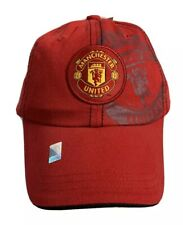 Manchester United MUFC Youth Boys OSFA Red Ball Cap Strapback Hat Red Devils New