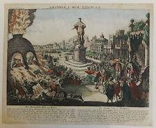 Babylone Mésopotamie Irak vue d'optique XVIIIème siècle