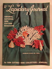 Lapidary Journal Magazine 1966 July Johnston Island Red Coral