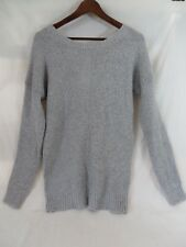 Mossimo Pull Over Sweater Long Sleeve Open Keyhole Back Silver Gray Med  #7138