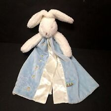 Bunnies By the Bay Blue Bud Bunny Baby Security Blanket Best Friends Indeed