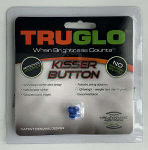 New! Tru-Glo Kisser Button For Bows Blue Bowhunting Archery Model TG73C