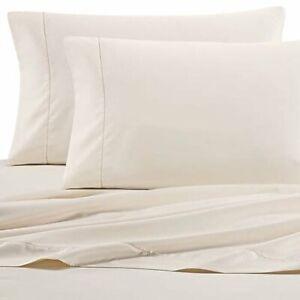 Wamsutta Dream Zone Pimacott 525 Thread Count Full Flat Sheet in Ivory, NEW