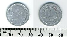 France 1944 C - 1 Franc Aluminum Coin - Liberated France - WWII