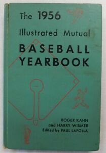 The 1956 Illustrated Mutual Baseball Yearbook Hard Cover Book By Roger Kahn