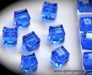 12pcs Authentic #5601 Swarovski Crystal 4mm Cube Square Beads pick colors