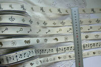 NATURE Cotton Canvas Ribbon DARK Print 3 Mtr Length 21mm Wide 6 Style Choice B1