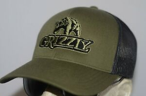 Grizzly Hat chewing tobacco cap camo snuff wintergreen dip redneck long cut chew