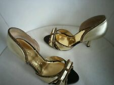 Meli Melo ladies women gold leather shoes EU 36