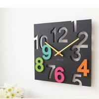 Wall Clock Modern Hanging 3D Watch Novelty Silent Europe Hollow Table Home Decor