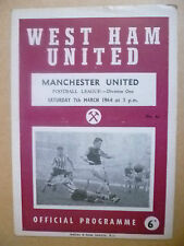 1964 League Division One- WEST HAM UNITED v MANCHESTER UNITED, 7th March