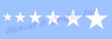 STAR STENCIL ASSORTED SIZES STARS BORDER STENCIL TEMPLATE PAINT ART CRAFT NEW