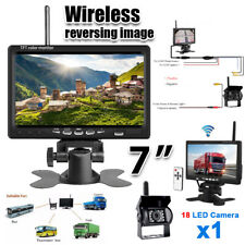 7inch LCD Car Rear View Backup Mirror Monitor+Wireless Reverse IR Camera Kit
