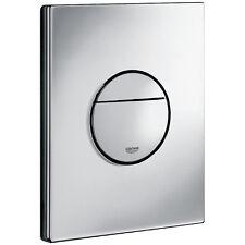 GROHE 38765000 Nova Cosmopolitan Toilet WC Dual Flush Wall Plate Chrome Rapid SL