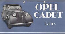 ✇ ORIGINALE PROSPEKT BROCHURE OPEL Cadet 1.1 LTR. da GM 1930er-anni