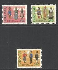 Faroe Is 1983 Local Costumes--Attractive Culture/Clothing Topical (101a-c) MNH