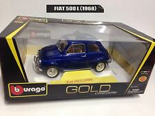 BURAGO 1/18-1/16 FIAT 500 L anno 1968 Gold Collection