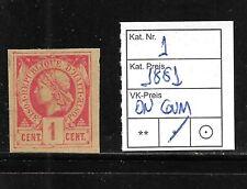 (57020) HAITI CLASSIC STAMPS #1 1881, UNUSED OG