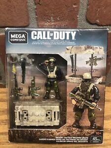 NEW Mega Construx Call of Duty DESERT TACTICS WEAPON CRATE GDG50 COD 45 pcs 2018