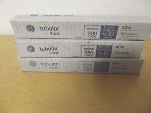 GE 15742 Tubular Frost 40W T6.5 Bulb Type Brightness 380 Lumens NOS Lot of 3