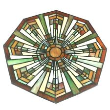 Quoizel Flush Mount Floating Stained Glass Craftsman Mission Style Light Shade