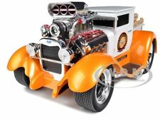 1929 FORD MODEL AA PICKUP WHITE/ORANGE MUSCLE MACHINES 1/18 CAR BY MAISTO 32201