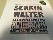 SERKIN WALTER BEETHOVEN PIANO CONCERTO NO.5 NEW YORK PHILHARMONIC Vinyl Record